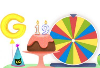 Comment faire tourner la roue pour l'annniversaire de google