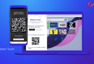 Opera Touch le navigateur mobile à une main