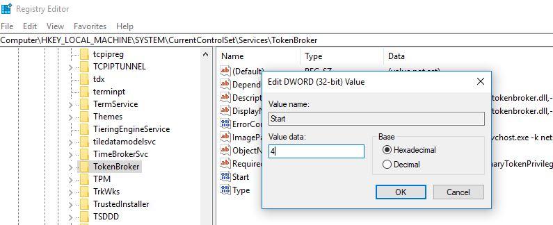 Désactiver de façon permanente le processus Runtime Broker depuis le registre