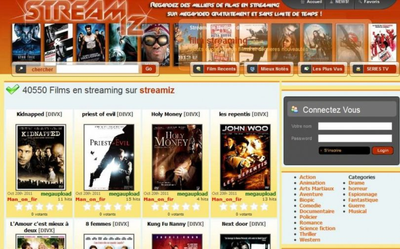 Streamiz site de streaming