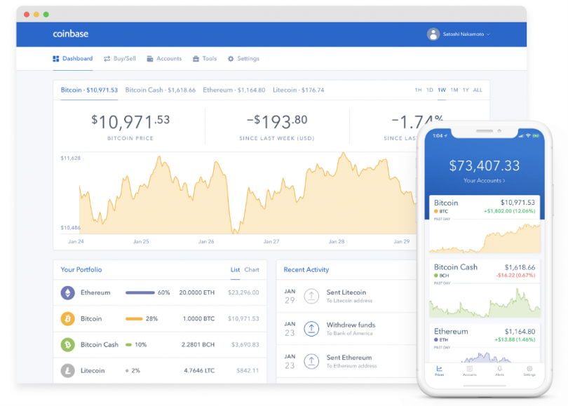 Coinbase : acheter securité cryptomonnaie bitcoin ethereum