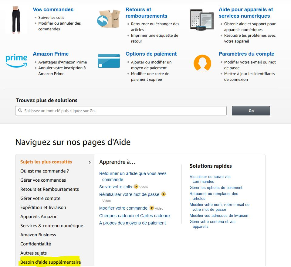 contacter amazon formulaire de contact