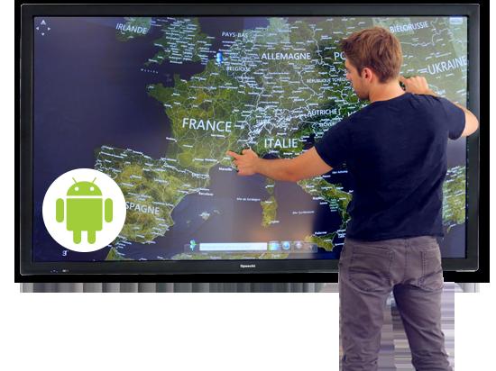 ecran interactif tactile en entreprise 2