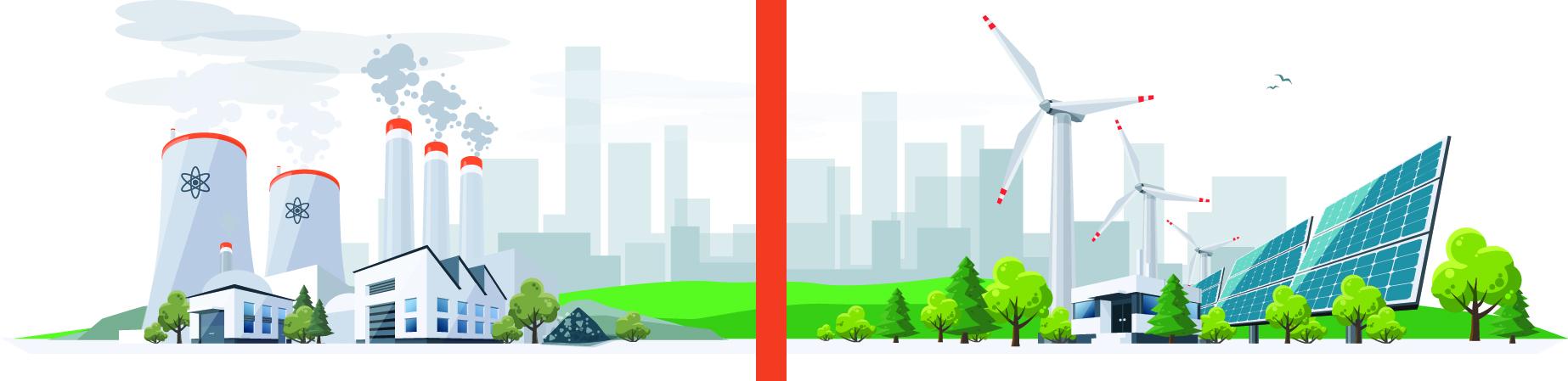 energie fossile versus energie renouvelable