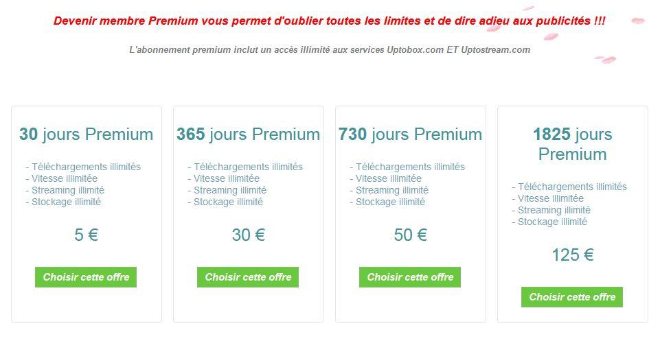 uptobox abonnement premium