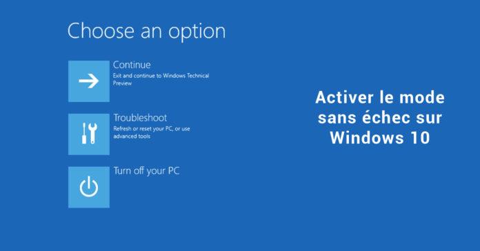 activer le mode sans échec sur Windows 10